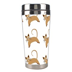 Cute Cats Seamless Wallpaper Background Pattern Stainless Steel Travel Tumblers by Simbadda