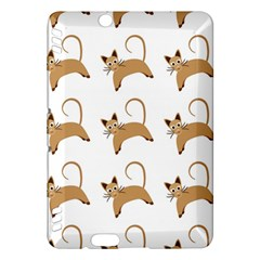 Cute Cats Seamless Wallpaper Background Pattern Kindle Fire Hdx Hardshell Case by Simbadda