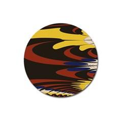 Peacock Abstract Fractal Magnet 3  (round) by Simbadda