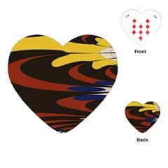 Peacock Abstract Fractal Playing Cards (heart)  by Simbadda