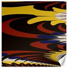 Peacock Abstract Fractal Canvas 16  X 16   by Simbadda