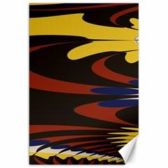 Peacock Abstract Fractal Canvas 20  X 30   by Simbadda