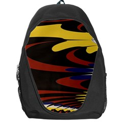 Peacock Abstract Fractal Backpack Bag by Simbadda