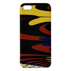 Peacock Abstract Fractal Iphone 5s/ Se Premium Hardshell Case by Simbadda