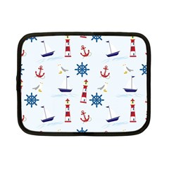 Seaside Nautical Themed Pattern Seamless Wallpaper Background Netbook Case (small)  by Simbadda