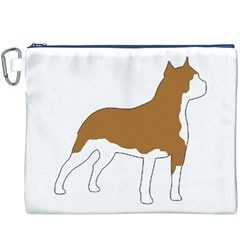 American Staffordshire Terrier  Silo Color Canvas Cosmetic Bag (XXXL) by TailWags