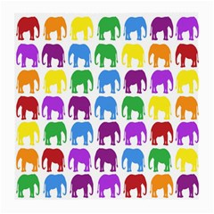 Rainbow Colors Bright Colorful Elephants Wallpaper Background Medium Glasses Cloth by Simbadda