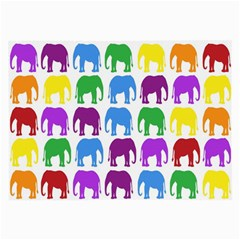 Rainbow Colors Bright Colorful Elephants Wallpaper Background Large Glasses Cloth by Simbadda