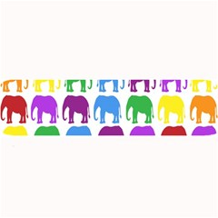 Rainbow Colors Bright Colorful Elephants Wallpaper Background Large Bar Mats by Simbadda