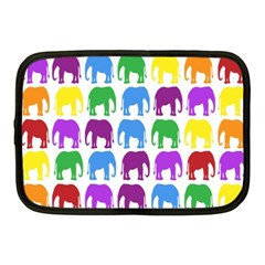 Rainbow Colors Bright Colorful Elephants Wallpaper Background Netbook Case (medium)  by Simbadda