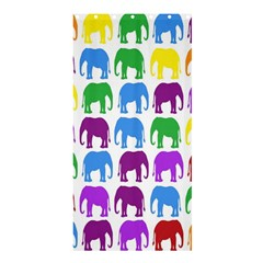 Rainbow Colors Bright Colorful Elephants Wallpaper Background Shower Curtain 36  X 72  (stall)  by Simbadda