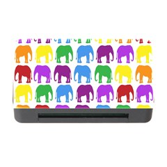 Rainbow Colors Bright Colorful Elephants Wallpaper Background Memory Card Reader With Cf by Simbadda