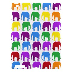 Rainbow Colors Bright Colorful Elephants Wallpaper Background Apple Ipad 3/4 Hardshell Case by Simbadda