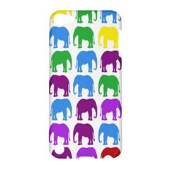 Rainbow Colors Bright Colorful Elephants Wallpaper Background Apple Ipod Touch 5 Hardshell Case by Simbadda