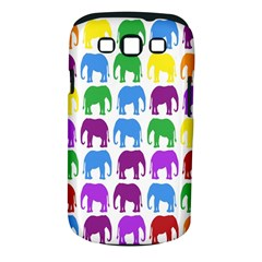 Rainbow Colors Bright Colorful Elephants Wallpaper Background Samsung Galaxy S Iii Classic Hardshell Case (pc+silicone) by Simbadda