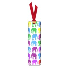 Rainbow Colors Bright Colorful Elephants Wallpaper Background Small Book Marks by Simbadda