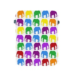 Rainbow Colors Bright Colorful Elephants Wallpaper Background Apple Ipad 2/3/4 Protective Soft Cases by Simbadda