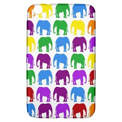 Rainbow Colors Bright Colorful Elephants Wallpaper Background Samsung Galaxy Tab 3 (8 ) T3100 Hardshell Case  by Simbadda