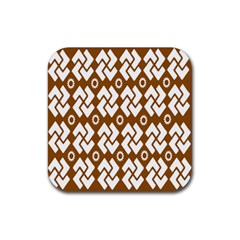 Art Abstract Background Pattern Rubber Coaster (square)  by Simbadda