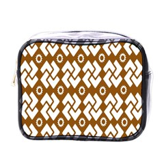 Art Abstract Background Pattern Mini Toiletries Bags by Simbadda