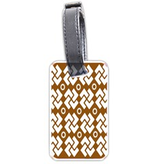 Art Abstract Background Pattern Luggage Tags (one Side)  by Simbadda