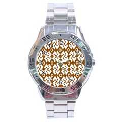 Art Abstract Background Pattern Stainless Steel Analogue Watch by Simbadda