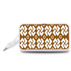 Art Abstract Background Pattern Portable Speaker (White) by Simbadda