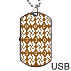 Art Abstract Background Pattern Dog Tag Usb Flash (one Side) by Simbadda