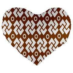 Art Abstract Background Pattern Large 19  Premium Heart Shape Cushions by Simbadda