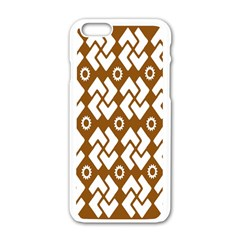 Art Abstract Background Pattern Apple Iphone 6/6s White Enamel Case by Simbadda