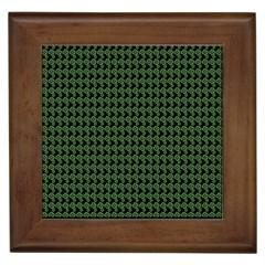 Clovers On Black Framed Tiles
