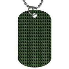 Clovers On Black Dog Tag (one Side) by PhotoNOLA