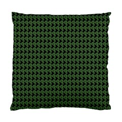 Clovers On Black Standard Cushion Case (one Side) by PhotoNOLA