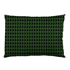 Clovers On Black Pillow Case by PhotoNOLA