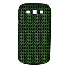 Clovers On Black Samsung Galaxy S Iii Classic Hardshell Case (pc+silicone) by PhotoNOLA