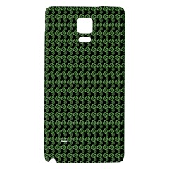 Clovers On Black Galaxy Note 4 Back Case by PhotoNOLA