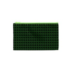 Clovers On Black Cosmetic Bag (xs) by PhotoNOLA
