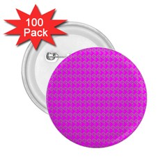 Clovers On Pink 2 25  Buttons (100 Pack)  by PhotoNOLA