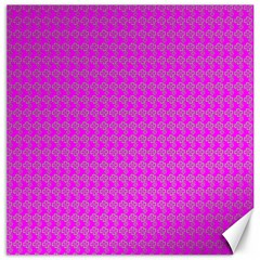 Clovers On Pink Canvas 12  X 12   by PhotoNOLA