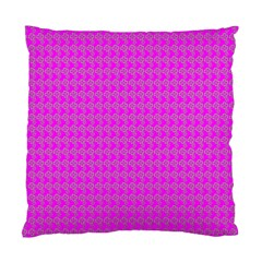 Clovers On Pink Standard Cushion Case (one Side) by PhotoNOLA
