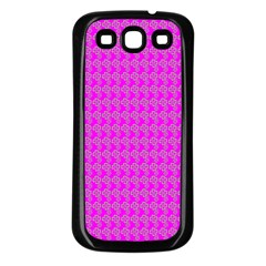 Clovers On Pink Samsung Galaxy S3 Back Case (black) by PhotoNOLA