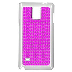 Clovers On Pink Samsung Galaxy Note 4 Case (white) by PhotoNOLA