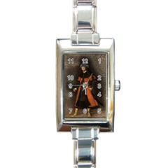 Count Vlad Dracula Rectangle Italian Charm Watch by Valentinaart