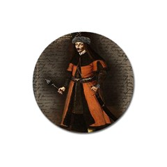 Count Vlad Dracula Magnet 3  (round) by Valentinaart