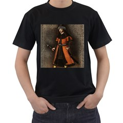 Count Vlad Dracula Men s T Shirt (black) (two Sided) by Valentinaart