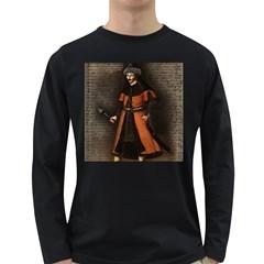 Count Vlad Dracula Long Sleeve Dark T Shirts by Valentinaart