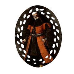 Count Vlad Dracula Ornament (oval Filigree) by Valentinaart