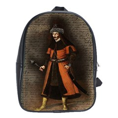 Count Vlad Dracula School Bags (xl)  by Valentinaart