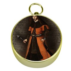Count Vlad Dracula Gold Compasses by Valentinaart
