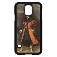 Count Vlad Dracula Samsung Galaxy S5 Case (black) by Valentinaart